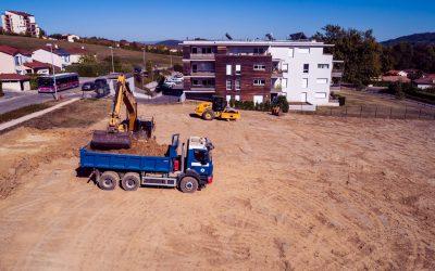 Pierre-Louve, construction de logements à l'Isle d'Abeau