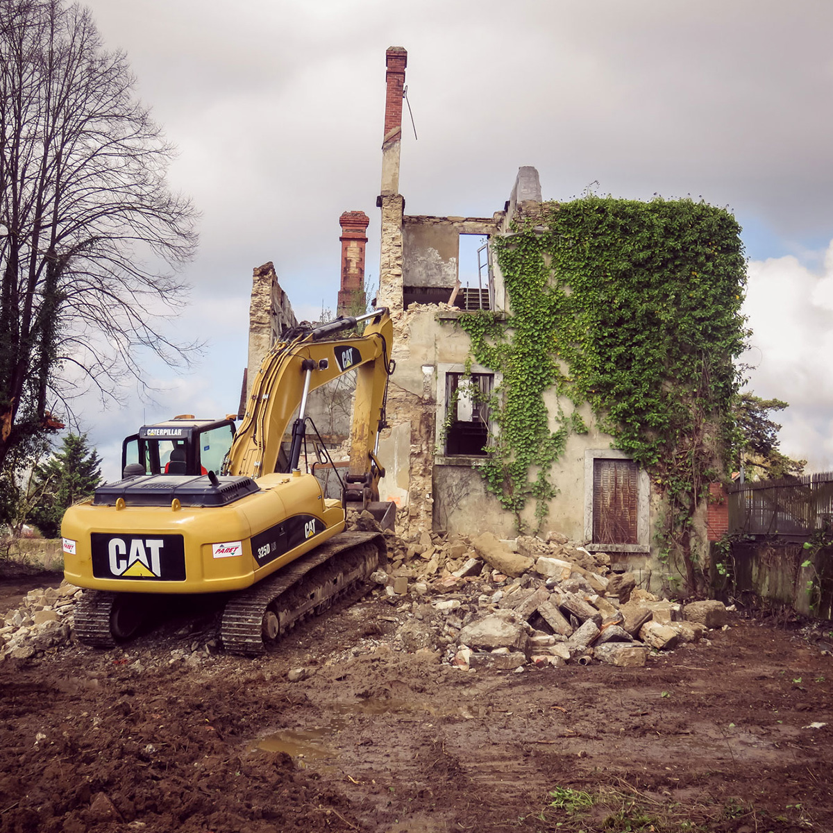 Demolition paret TP